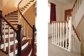 Stairs and staircase parts.